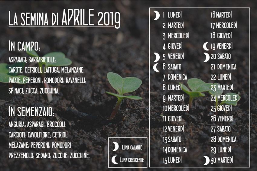 cosa seminare ad aprile
